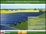 A Booming Market for Solar District Heating